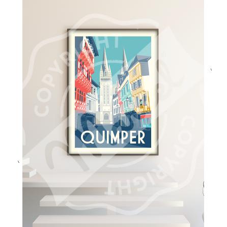 """Affiche Quimper """"Rue Kéréon"""""""