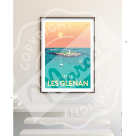 Affiche Archipel Les Glénan