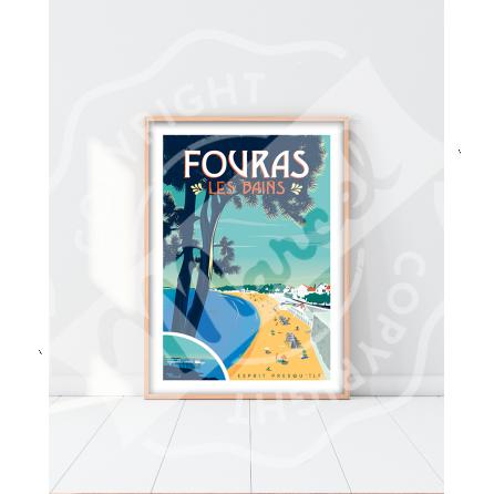 """Affiche FOURAS-LES-BAINS """"Esprit presqu'île"""""""