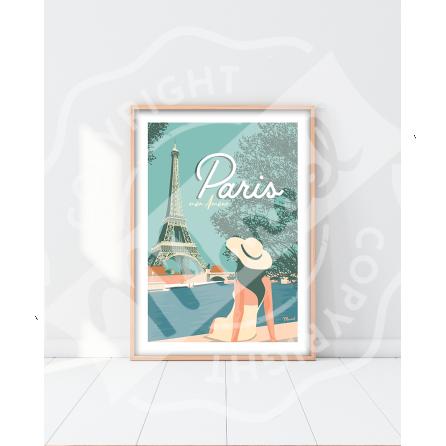 """AFFICHE PARIS """"Mon amour"""""""