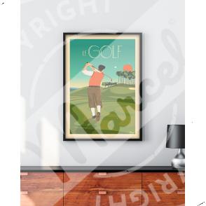 Affiche LE GOLF