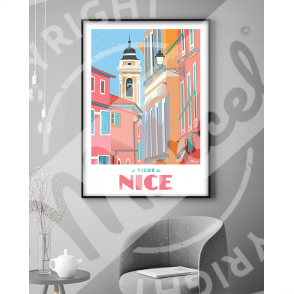 """Affiche """"Le Vieux Nice"""""""