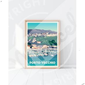 "Affiche Porto-Vecchio ""Le Port"""