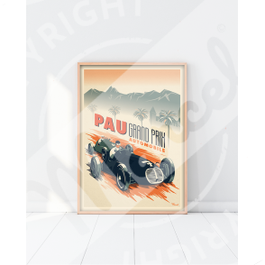 "Affiche Pau ""Grand Prix Automobile"""