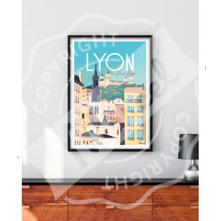 "Affiche LYON ""Le Vieux Lyon"""