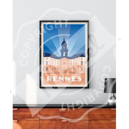 Affiche RENNES «Hôtel de Ville »