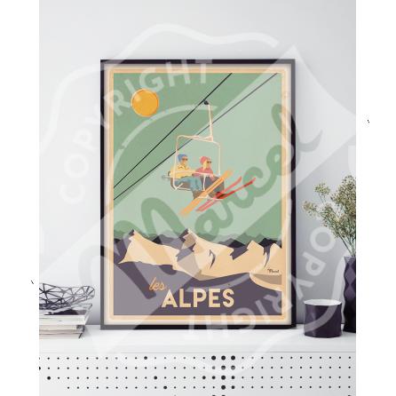 "CLASSICS WINTER ""ALPES - Le Télésiège"