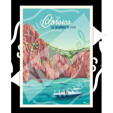 Poster CORSICA « Calanques de Piana »