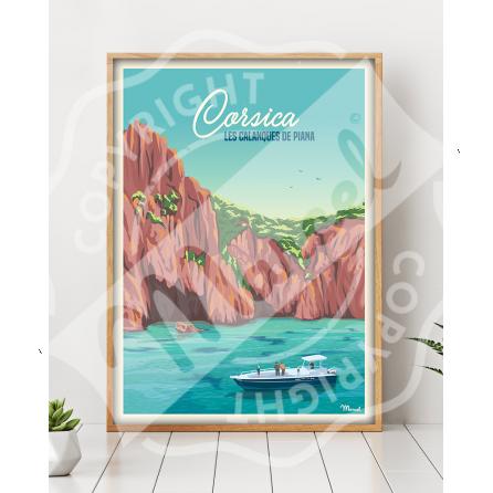 Affiche CORSICA « Calanques de Piana »