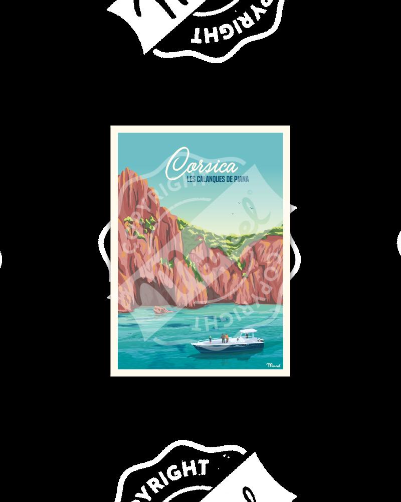 Postcard Corsica « Calanques de Piana »