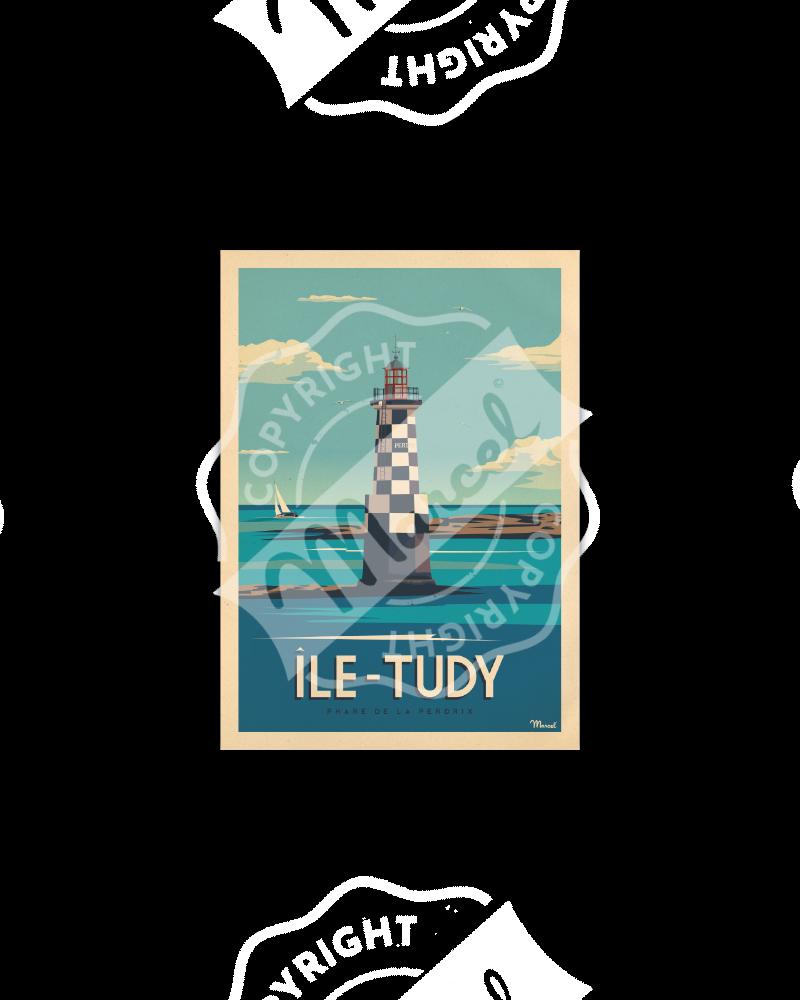 Carte Postale ÎLE-TUDY « Phare de la Perdrix »