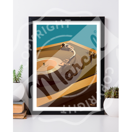 Affiche Marcel Small Edition - TURNTABLE