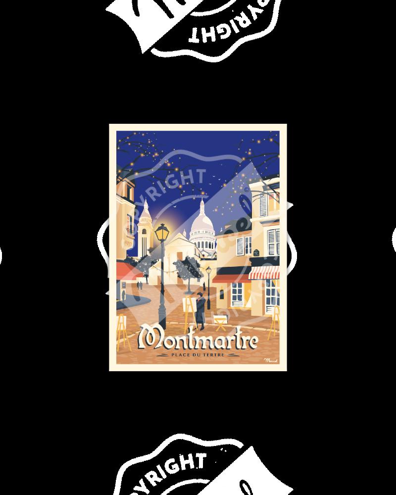 """Postcard MONTMARTRE """"Place du Tertre"""""""