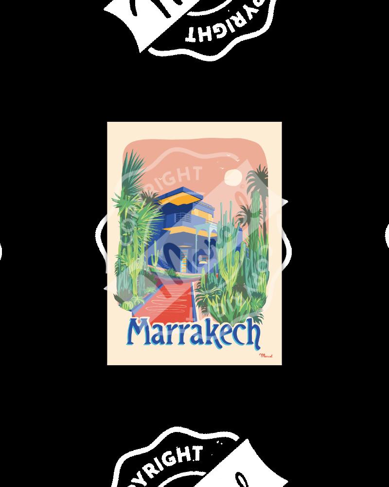 "Carte Postale MARRAKECH  ""Le Jardin Majorelle"""