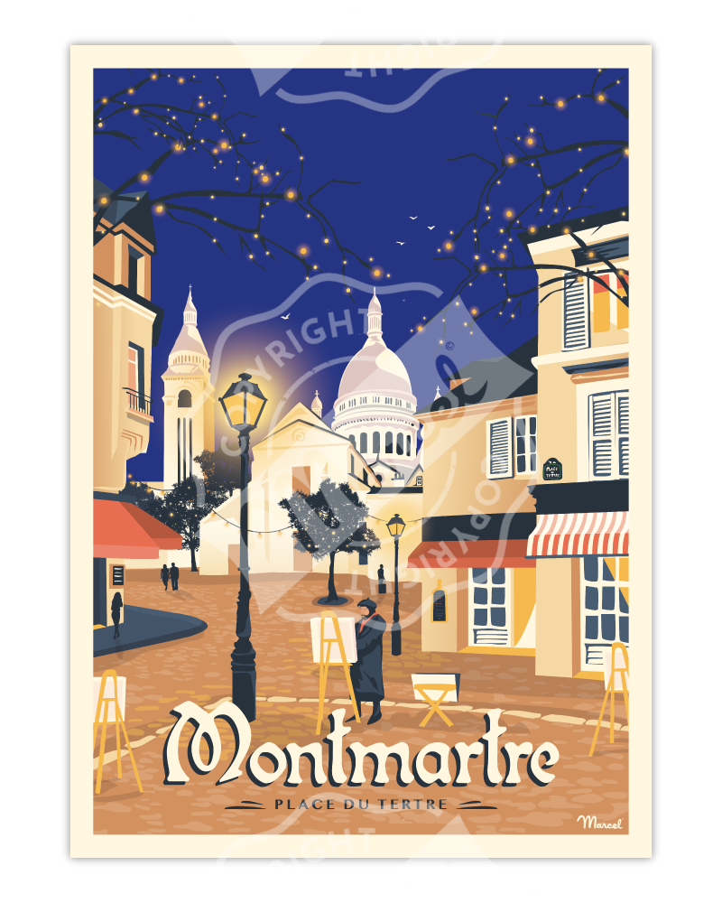 AFFICHE MONTMARTRE «Place du Tertre »