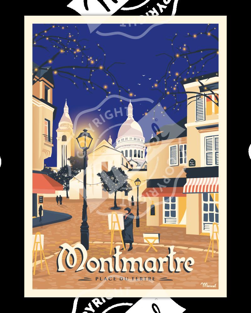 Poster MONTMARTRE «Place du Tertre »