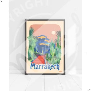 """AFFICHE MARRAKECH  """"Le Jardin Majorelle"""""""