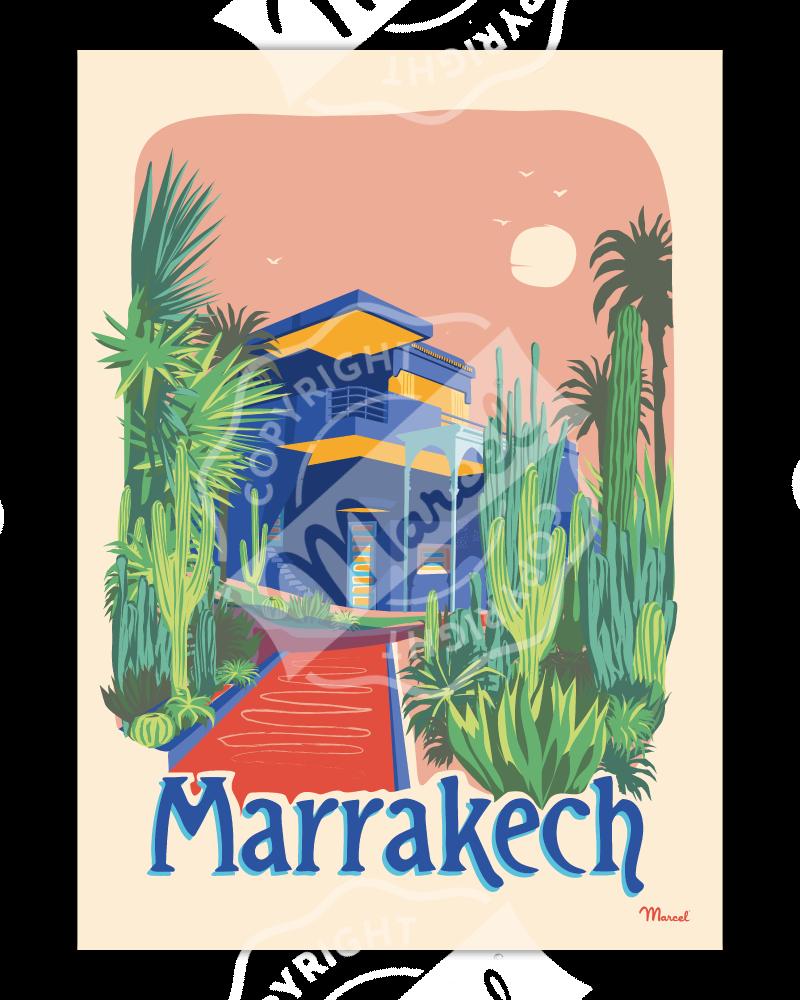 "Poster MARRAKECH  ""Le Jardin Majorelle"""
