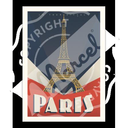 """AFFICHE PARIS """"Tour Eiffel"""""""