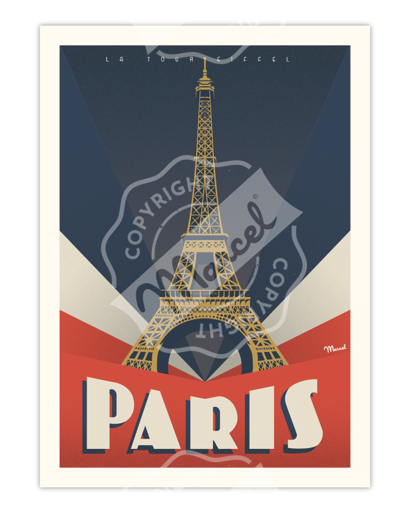 "AFFICHE PARIS ""Tour Eiffel"""
