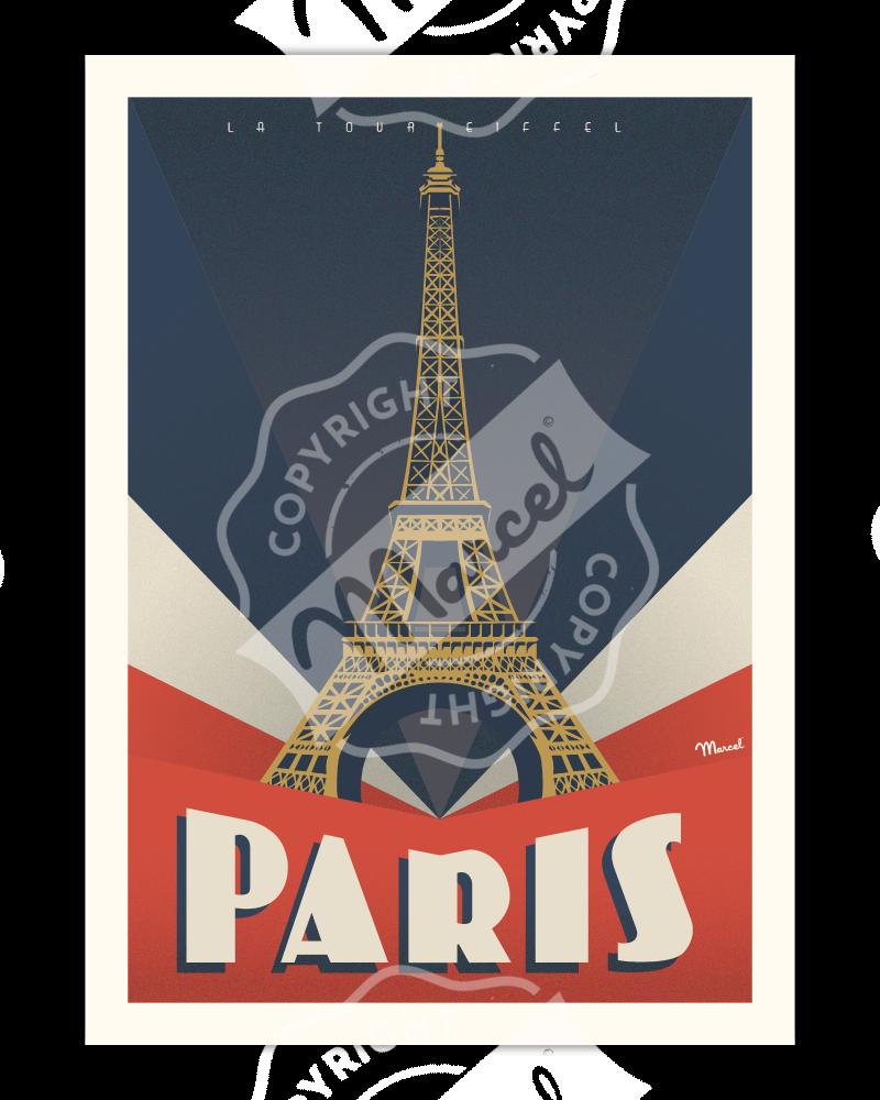 """Poster PARIS """"Tour Eiffel"""""""
