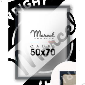 Cadre Bois Noir Mat 50x70
