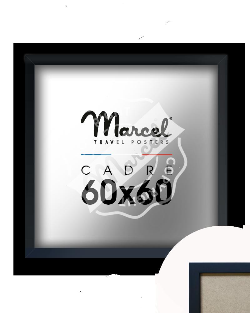 Cadre noir mat 60x60