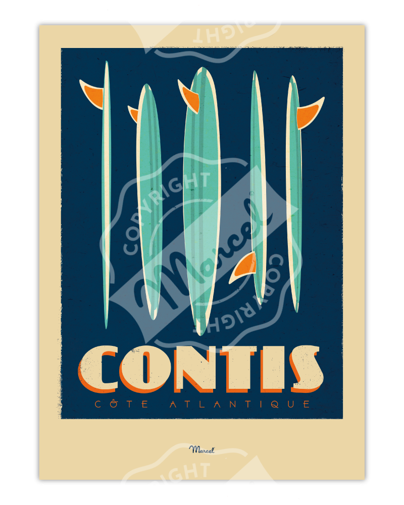 "Poster CONTIS ""Surfboards"""