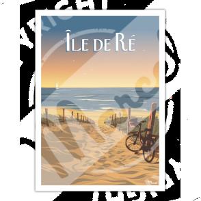 """Affiche Île de Ré """"Bois-Plage"""""""
