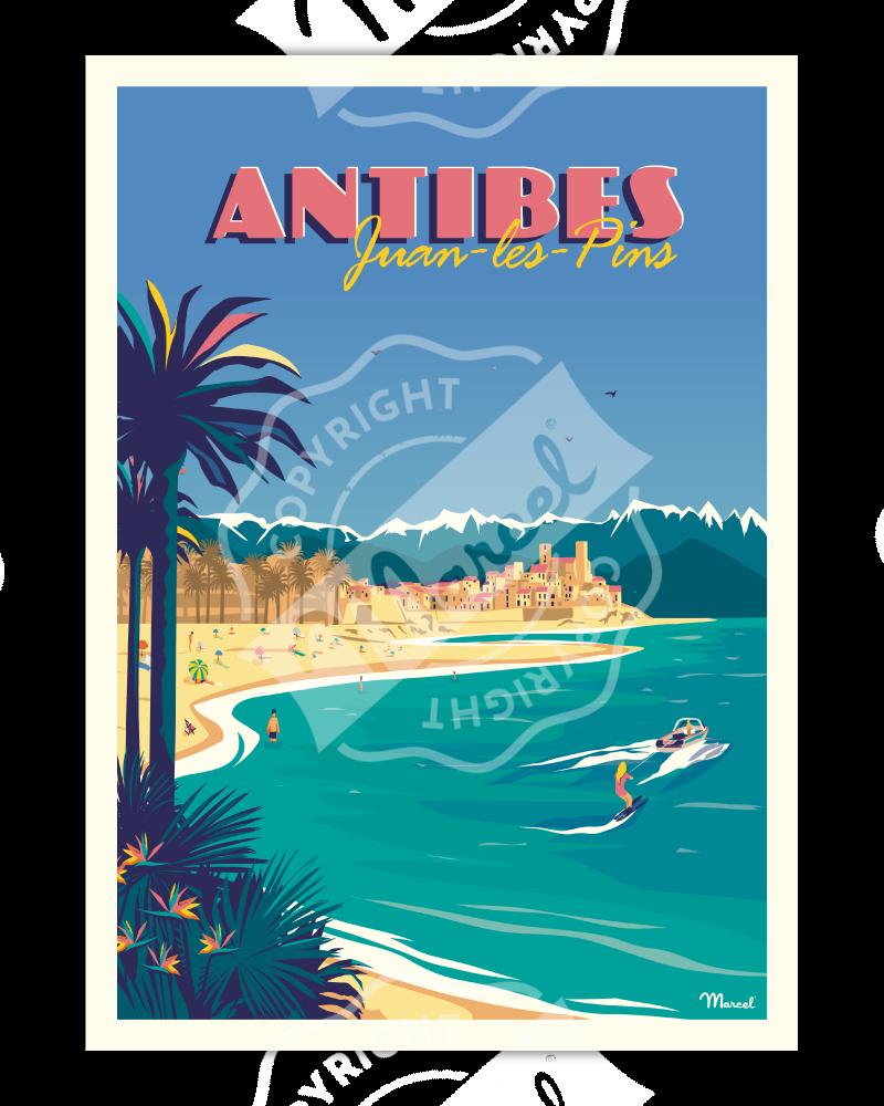 Affiche ANTIBES Juan-Les-Pins