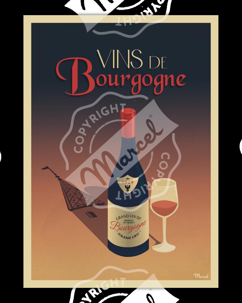 Poster Vins de Bourgogne