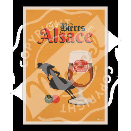 Affiche Bières d'Alsace