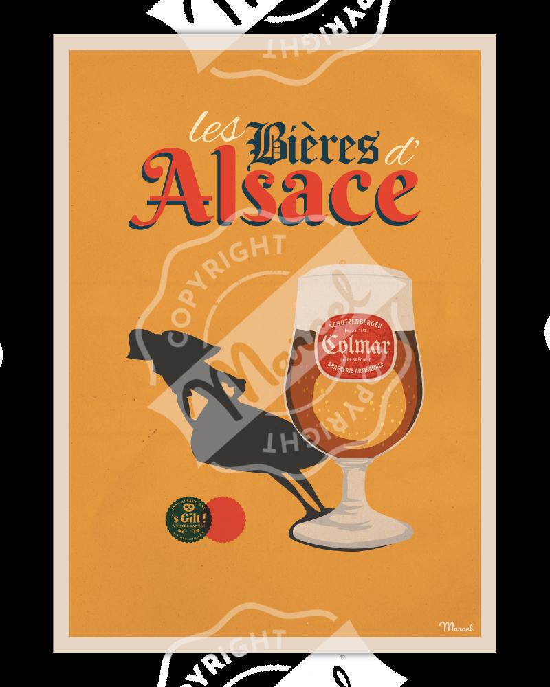 """Poster """"Bières d'Alsace"""""""
