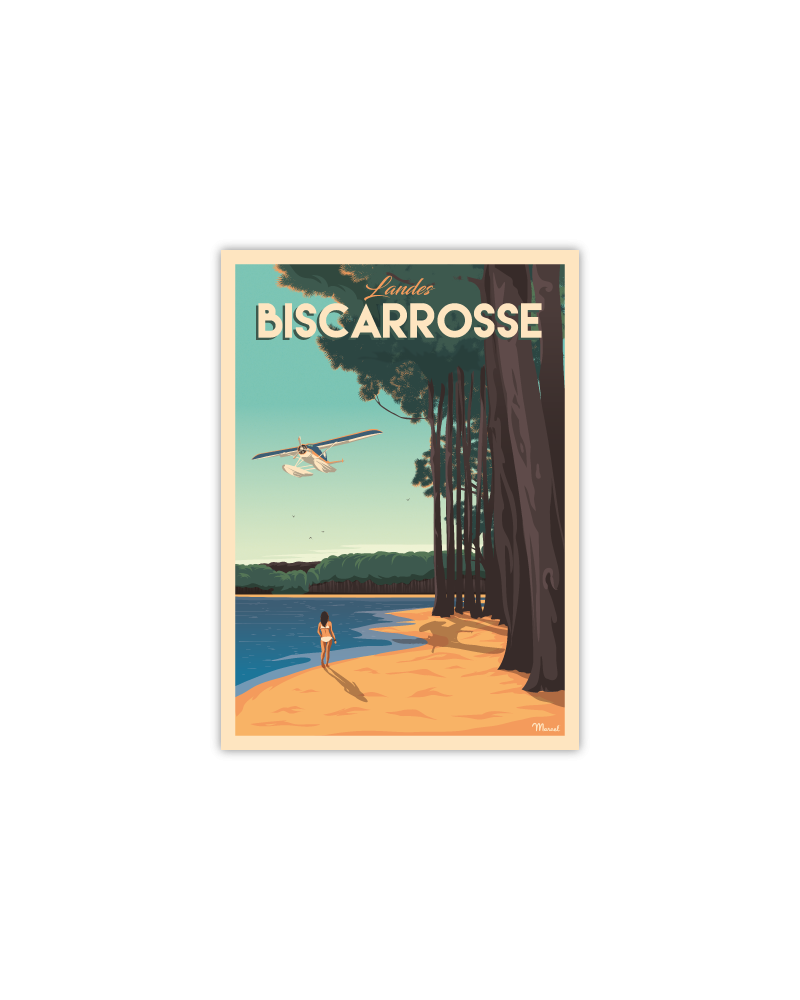 Carte Postale BISCARROSSE