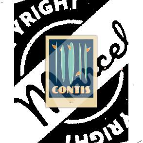"Carte Postale CONTIS ""Surfboards"""