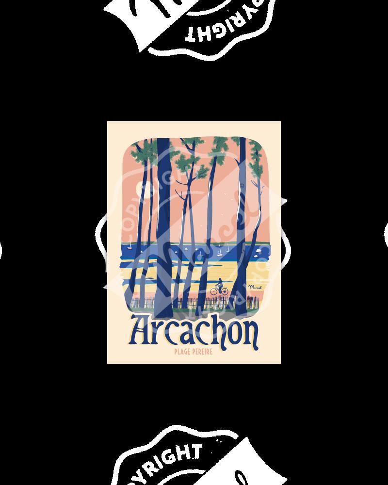 """Carte Postale ARCACHON """"Plage Pereire"""""""