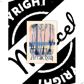 """Postcard ARCACHON """"Plage Pereire"""""""