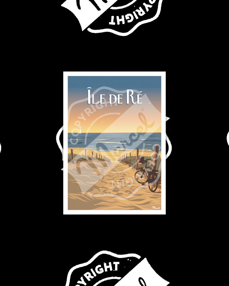 """Postcard  ILE DE RE """"Bois-Plage"""""""