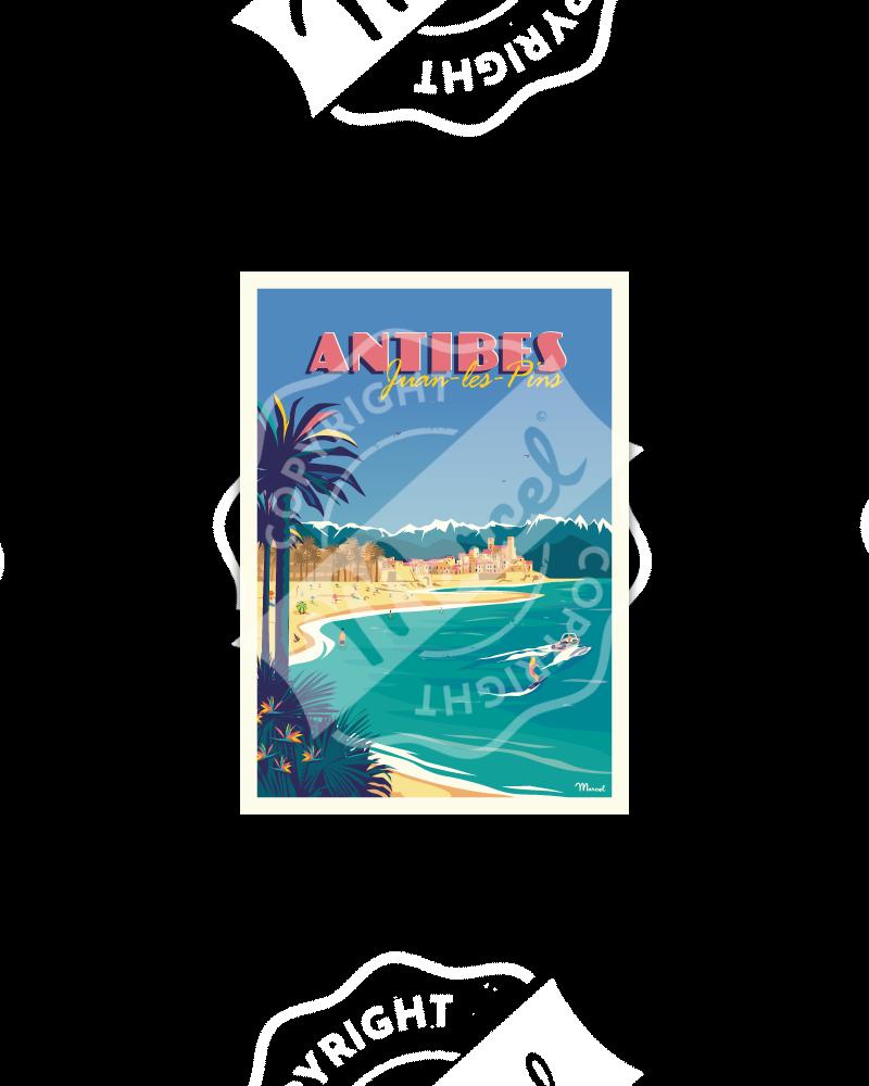 Postcard ANTIBES Juan-les-Pins