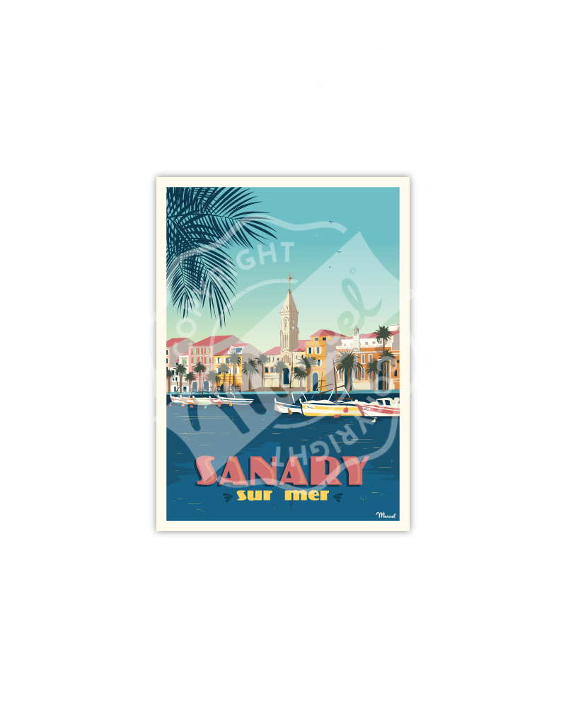 Postcard SANARY-SUR-MER