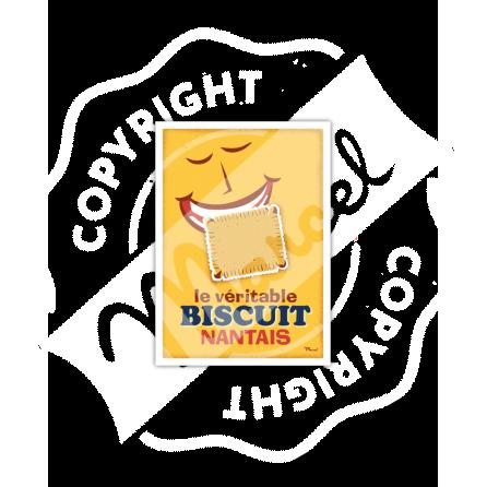 """Carte Postale """"Le Biscuit Nantais"""""""