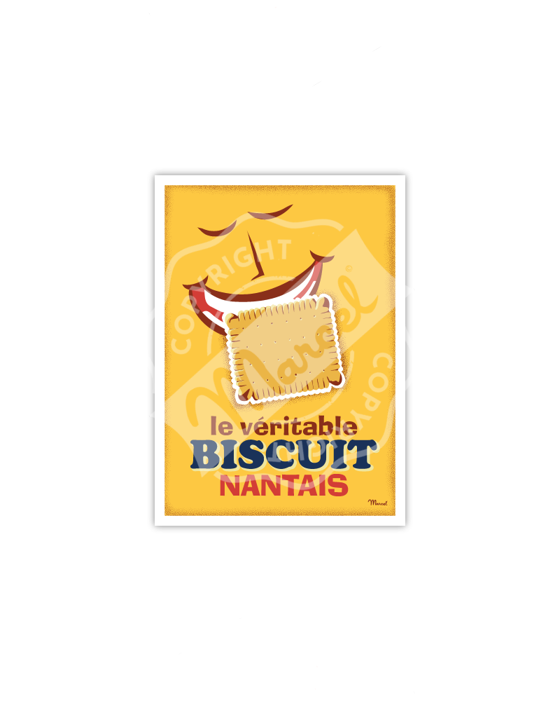 "Carte Postale ""Le Biscuit Nantais"""