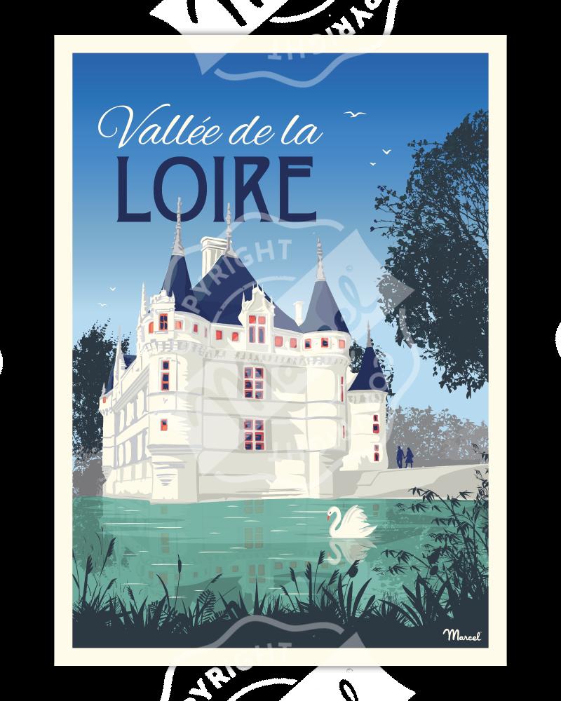 Affiche VALLEE DE LOIRE