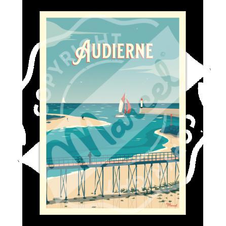 """Affiche Audierne """"La Passerelle"""""""