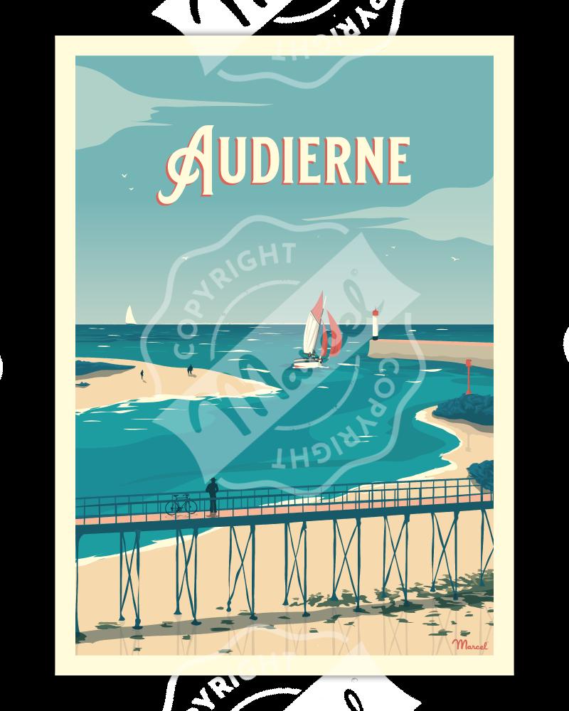 """Poster AUDIERNE """"La Passerelle"""""""