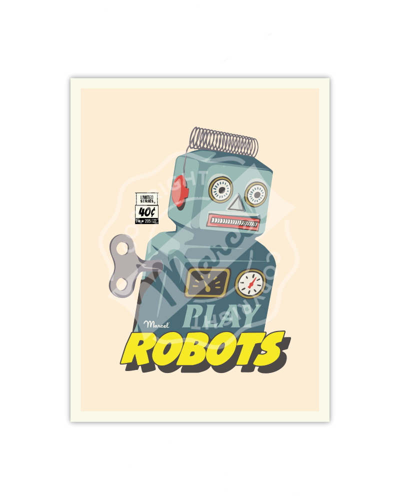 Poster Small Edition - PLAYS ROBOTS