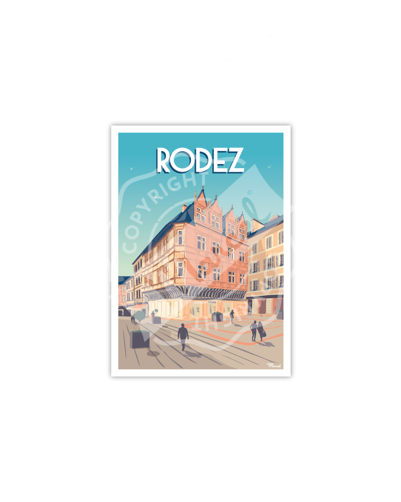 """RODEZ """"Place de l'Olmet"""""""