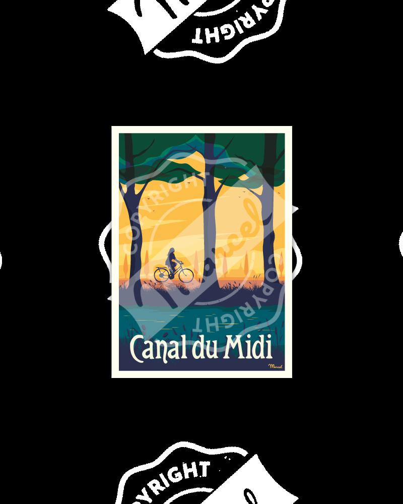 "Postcard CANAL DU MIDI ""Vélo"""