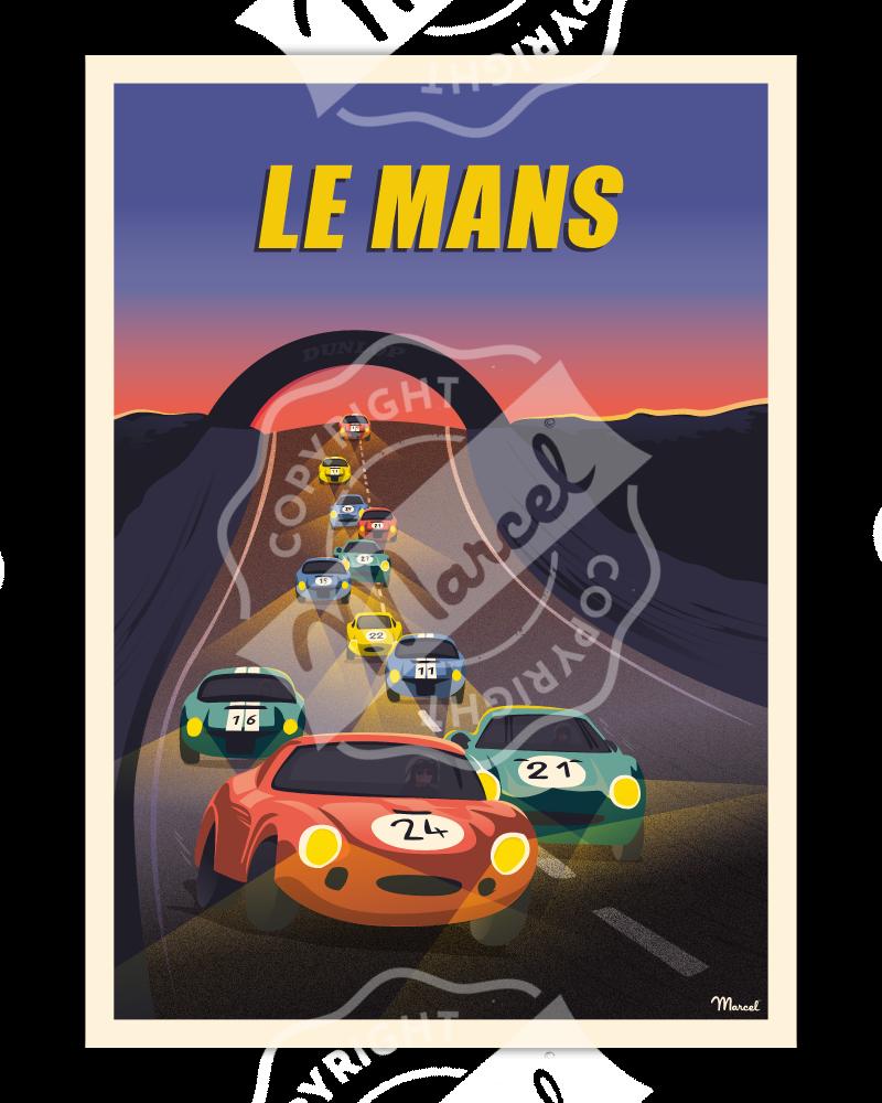 Affiches originales Marcel LE MANS