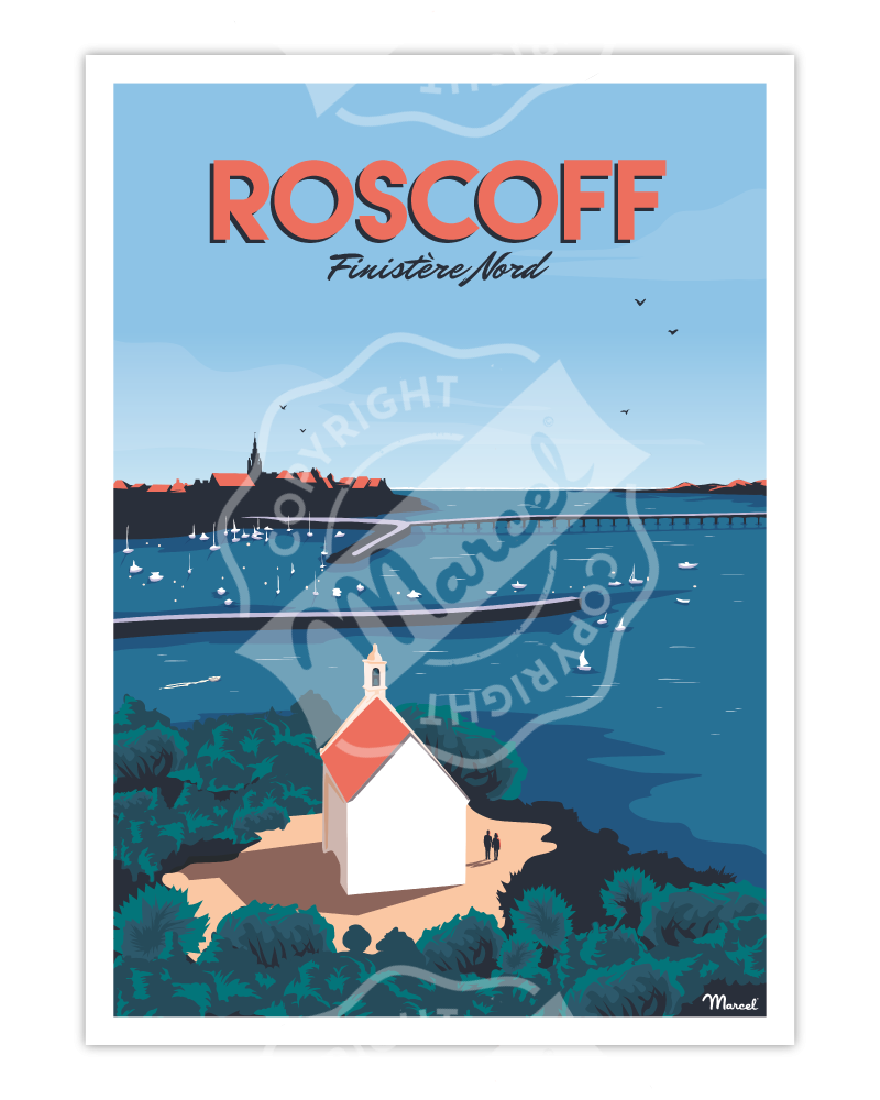 "Affiche ROSCOFF ""Finistère Nord"""